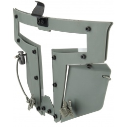 Armory T-shaped Windowed Attachment Face Mask For Bump Helmets - GRAY