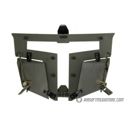 Armory T-shaped Windowed Attachment Face Mask For Bump Helmets - OD