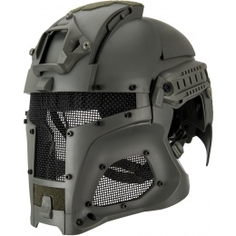 AMA Interstellar Battle Trooper Full Face Airsoft Helmet - FOLIAGE GREEN