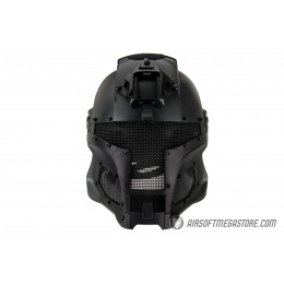 AMA Interstellar Battle Trooper Full Face Airsoft Helmet - BLACK