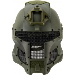 AMA Interstellar Battle Trooper Full Face Airsoft Helmet - OD GREEN