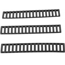 E&L Airsoft Slim 18-Slot Handguard Ladder Rail Cover - Set of 3 / BLACK