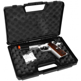TSD Two-Tone M1911 CO2 Blowback Pistol Tactical-601 - BLACK / SILVER