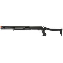 Lancer Tactical CM352L Tri-Burst Long Barrel Airsoft Shotgun - BLACK