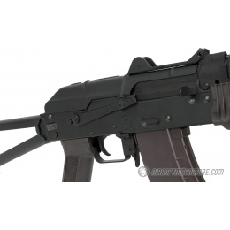 Lancer Tactical Full Metal AKS-74UN Airsoft AEG Rifle - BLACK