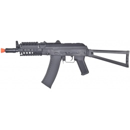 Lancer Tactical AKS-74UN RIS Full Metal AEG Airsoft Gun w/ Rail System - BLACK