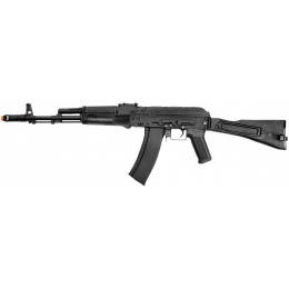 Lancer Tactical AK-74M Airsoft AEG Rifle w/ Side-Folding Stock - BLACK