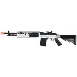 Lancer Tactical Full Metal M14 EBR AEG DMR Sniper Rifle - SILVER