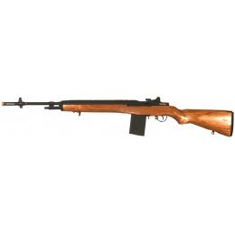 Lancer Tactical M14 Real Wood Full Metal AEG - WOOD/BLACK