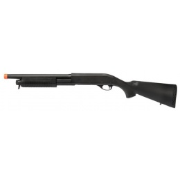 Lancer Tactical M870 Shell Loading Tri-Shot Airsoft Shotgun - BLACK