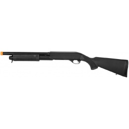 Lancer Tactical Full Metal M870 Shell Loading Tri-Shot Airsoft Shotgun - BLACK