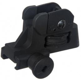 M015 QD Adjustable Rear Sight For M4 / M16 Series Airsoft AEGs - BLACK