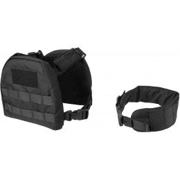 Lancer Tactical 1000D Nylon Youth MOLLE Vest w/ Battle Belt [S] - BLACK - BLACK