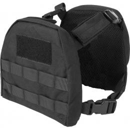 Lancer Tactical 1000D Nylon Youth MOLLE Vest w/ Battle Belt [S] - BLACK - BLACK