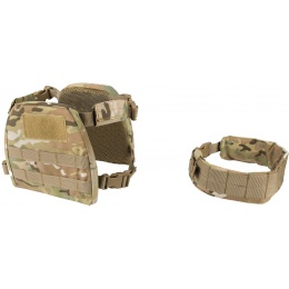 Lancer Tactical 1000D Nylon Youth MOLLE Vest w/ Battle Belt [S] - CAMO