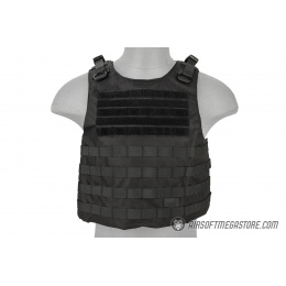 Lancer Tactical 1000D Nylon AAV Style Plate Carrier - BLACK