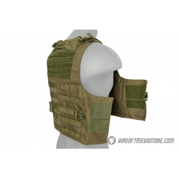 Lancer Tactical 1000D Nylon AAV Style Plate Carrier - OD GREEN