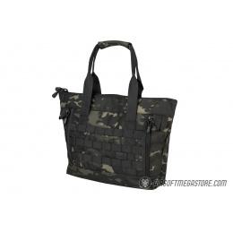 Lancer Tactical 1000D Nylon Tactical Tote Bag - CAMO BLACK