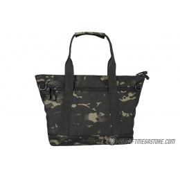 Lancer Tactical 1000D Nylon Tactical Tote Bag - CAMO BLACK