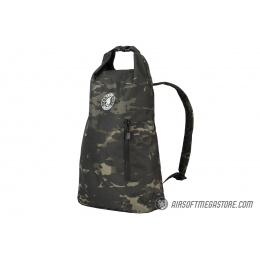 Lancer Tactical 1000D Nylon Tactical Barrel Backpack - CAMO BLACK