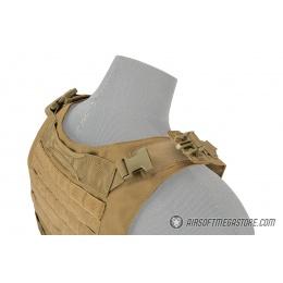 Lancer Tactical 1000D Nylon MOLLE Utility Vest - KHAKI