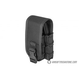 Lancer Tactical 1000D Nylon QD Buckle Pistol/Rifle Mag Pouch - BLACK