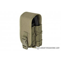 Lancer Tactical 1000D Nylon QD Buckle Pistol/Rifle Mag Pouch - OD GREEN
