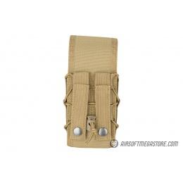 Lancer Tactical 1000D Nylon QD Buckle Pistol/Rifle Mag Pouch - TAN
