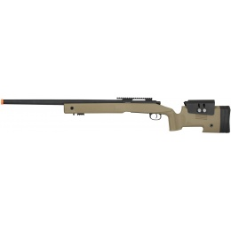 Lancer Tactical M40A3 Bolt Action Airsoft Sniper Rifle - TAN