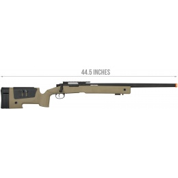 Lancer Tactical M40A3 Bolt Action Airsoft Sniper Rifle - TAN