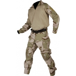 Lancer Tactical Combat Tactical Uniform Set - TRI DESERT-Small