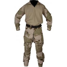 Lancer Tactical Combat Tactical Uniform Set - TRI DESERT-Small