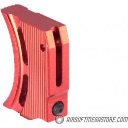 Airsoft Masterpiece Aluminum Trigger Type 1 for Hi-Capa Pistols - RED