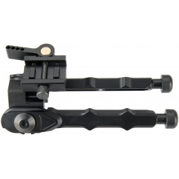 Ranger Armory Rigid Full Metal Bipod for Picatinny Rails - BLACK