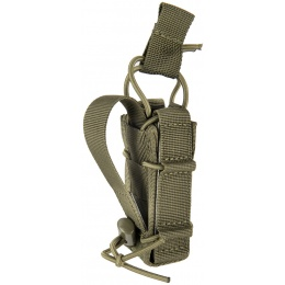 Lancer Tactical Single Pistol Bungee Magazine Pouch - OD GREEN