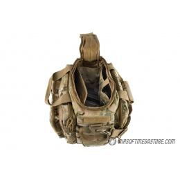 Lancer Tactical 1000D Nylon Small Range MOLLE Bag - CAMO