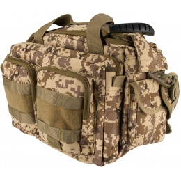 Lancer Tactical 1000D Polyester Small Range MOLLE Bag - DESERT DIGITAL