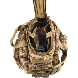 Lancer Tactical 1000D Polyester Small Range MOLLE Bag - DESERT DIGITAL
