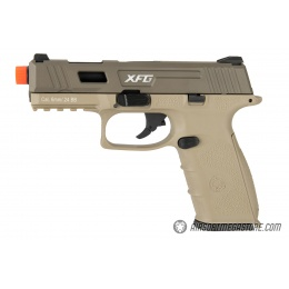 ICS XFG Gas Blowback Airsoft GBB Pistol - TAN