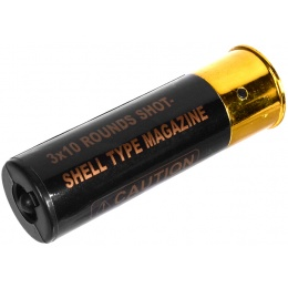 DE Airsoft 1X TripleShot Shotgun Shell 3x10 Shots - BLACK