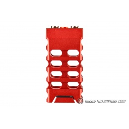 Ranger Armory Skelontonized Lightweight KeyMod Straight Cut Grip - RED
