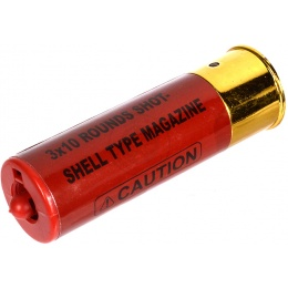 DE Airsoft 1X TripleShot Shotgun Shell 3x10 Shots - Red