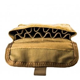 High Speed Gear Shotgun Shell Pouch w/ Belt Attachment - COYOTE BROWN