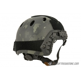 Lancer Tactical PJ Airsoft Helmet w/ Side Rails [LG/XL] - CAMO BLACK