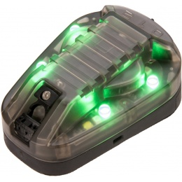 G-Force Identification Friend or Foe IFF Helmet Marker Light - BLACK / GREEN