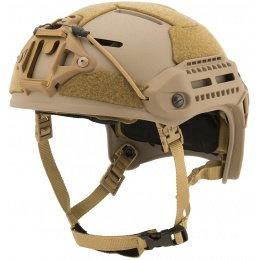 Lancer Tactical MT Helmet w / Side Rails and Shroud - TAN