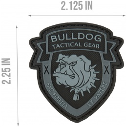 G-Force Bulldog Tactical Gear PVC Morale Patch - BLACK