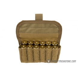 High Speed Gear Shotgun Shell Pouch w/ MOLLE - COYOTE BROWN
