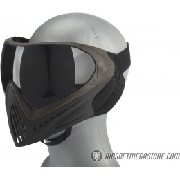 G-Force Modern Full Face Mask - BROWN / BLACK
