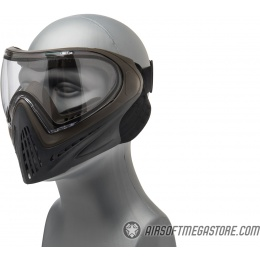 G-Force Modern Full Face Mask - GRAY/BROWN